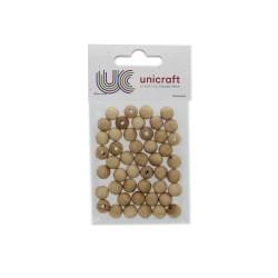 Ball beech wood natural 10mm - boreholl 2,8mm (47 pcs)