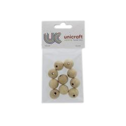 Ball beech wood natural 20mm - borehole 4mm (10 pcs)