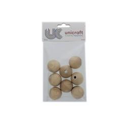 Ball beech wood natural 35mm - borehole 8mm (8 pcs)