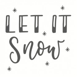 Wooden stamp May & Berry 45mm x 45mm - Let it snow