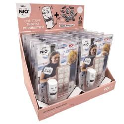 12er display Little Nio stamps français/rosa display