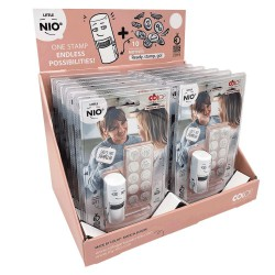 12er display Little Nio Deutsche Textstamp/rosa display