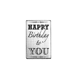 Wooden stamp Vintage 70mm x 42mm - Happy birthday to you