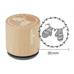 Wooden stamp Woodies 30mm - Mittens