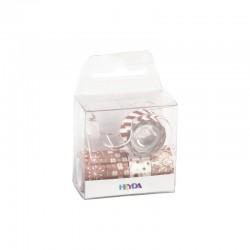 Deco Tape mini X-mas - Rosé gold (5 pcs)