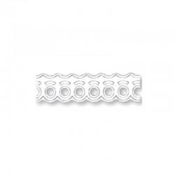Dentelle papier14mmx2m vagues blanc