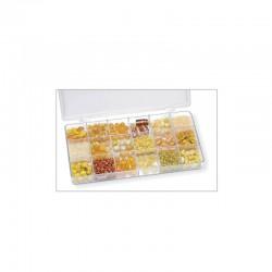 Boîte perles 200g 18 comp.jaune