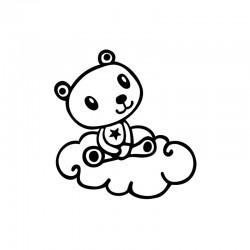 Decostamp bear on cloud XL°