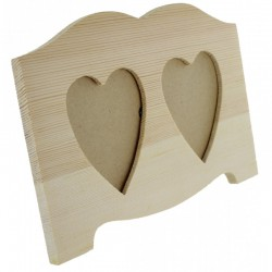 Photo frame with 2 hearts 185x120mm