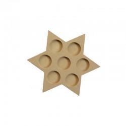 Star candle holder for 7 tea-lights 22cm