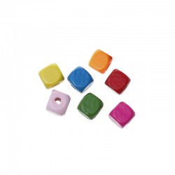 Wood Beads Cube 1cm x 1cm (200 pcs)
