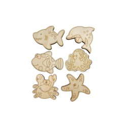 Sea animals 14cm x 22cm (6 pcs)°