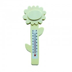 Flower thermometer in wood 16cm (10 pcs)