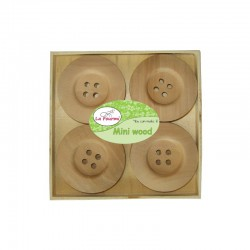 Box with wooden buttons ± 50mm (8 pcs)