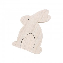 Wooden rabbit & egg 10,5cm x 2,5cm x 15cm
