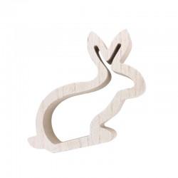 Wooden rabbit 15cm x 2,5cm x 12,5cm