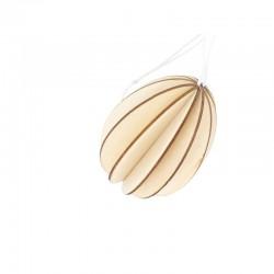 Wooden hanging egg 8,5cm x 8cm x 8cm