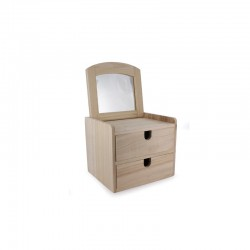 Jewellery box with 2 drawers 161mm x 148mm x 139mm