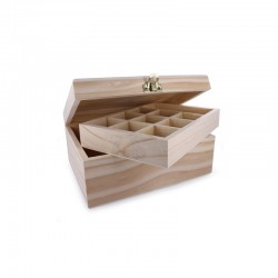 Bead box with 2 levels 198mm x 150mm x 90mm