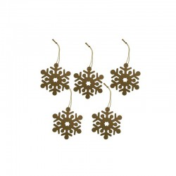 Snowflakes and string 9cm (5 pcs)