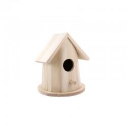 Round birdhouse 11cm x 11cm x 14cm