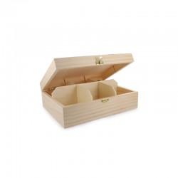 Teabag box 6 sections 20,5cm x 16cm x 7,5cm