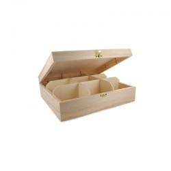Teabag box 9 sections 20,5cm x 23,5cm x 7,5cm