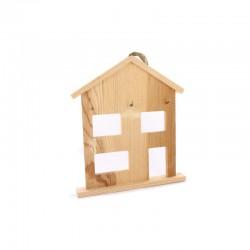 House shape with windows & hooks 17cm x 19,8cm x 2,2cm