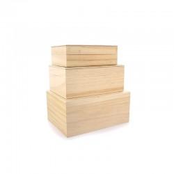 Rectangular boxes 20cm x 14cm x 9cm (3 pcs)
