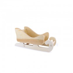 Wood sledge 21,5cm x 8,5cm x 10cm