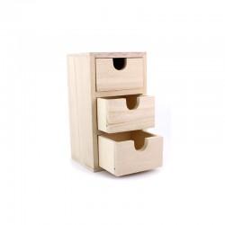 Mini chest 3 drawers 15,5cm x 8,5cm x 8cm