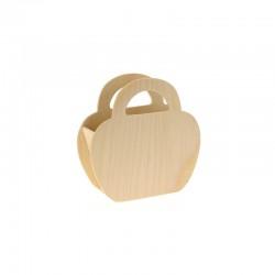 Wood basket 9,5cm x 9,5cm x 3cm