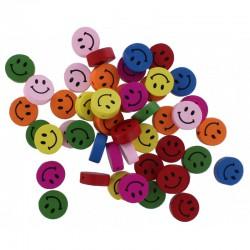 Perles en Bois Smiley ⌀2mm 1,7cm x 0,6mm (100 pcs)