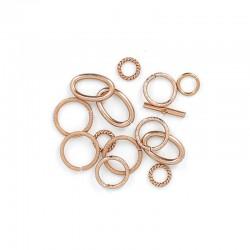 Assort. Links & clasp Bronze (12 pcs)