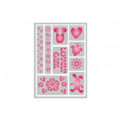 Flexible adhesive stencil 148x210mm lovely girl°