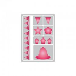 Flexible adhesive stencil 148x210mm° cupcakes