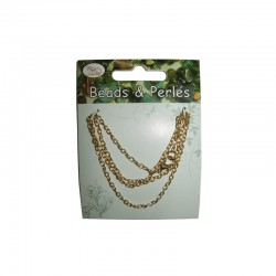 Neck chain 42cm gold on card