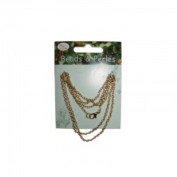 Neck chain 70cm gold on card