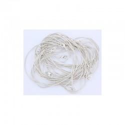 Soft chain neckring 42cm Silver (12 pcs)