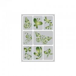 Flexible adhesive stencil 15cm x 21cm Butterflies