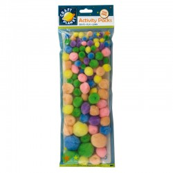 Pompoms (100pk) - Pastel Assorted Colours