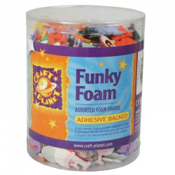 Funky Foam Tub (Self Adhesive) - Letters/Cijfers- Kleuren as