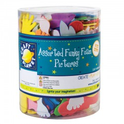 Funky Foam Tub (Self Adhesive) - Pictures - Assorted Colours