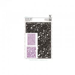 A5 Die Set - Floral Filigree Background (1 pc)