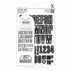 A5 Die Set - Wedding Alphabet & Numbers (48 pcs)