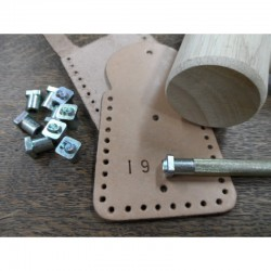 Metalstamps Numbers set for leather 10 pcs