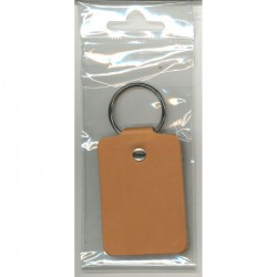Leather Keyring 6.5 x 4.5 cm