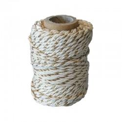 Cotton 1mm 20m., écru-silver + écru-gold