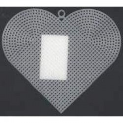 Plastic canvas heart 15 cm 12