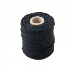 Cotton 1mm 65 m.,black